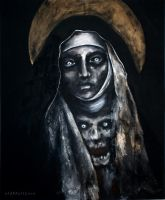 UNHOLY -THE MORGUE OF SAINTS series - collab work by MWeiss-Art