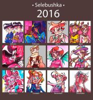 2016 Summary of art by Selebushka