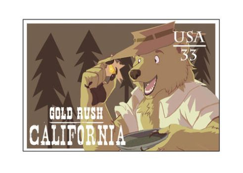California Stamp by BoneGnaws