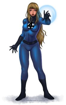 Commission: Invisible Woman 2 by johnbecaro