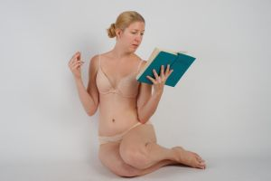 Body Reference - Sitting - Reading by Danika-Stock