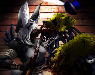Commission- Fight by Rusty0