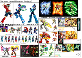 Megaman Starforce Forms by ThaviduX123