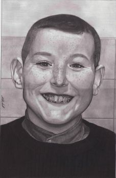 Pencil drawing of my Nephew Kyle by mchurchill1982
