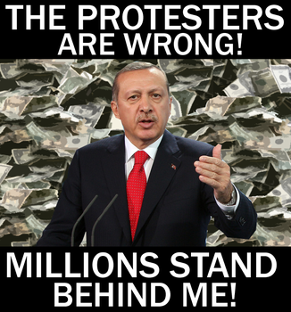 Erdogan's Message to Protesters by Party9999999