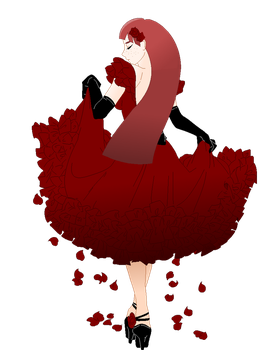 The Lady of Red Roses by KumoHatsune