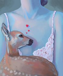 Girl With Fawn by SuperPhazed