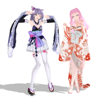 {MMD} Poppy and Luhan by MMDGirl199