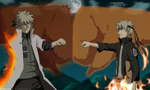 father and son together by madara-elias