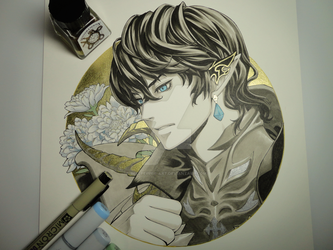 Inktober - Day 06 - Aymeric Final Fantasy XIV by Bellpepper-art
