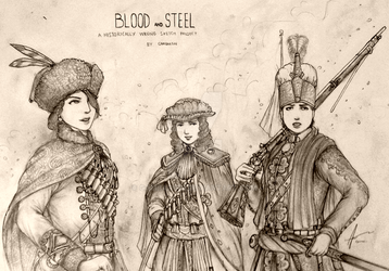 Historically Wrong Sketch Project: Blood and Steel by Gambargin