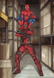Deadpool and Spidey by LinART