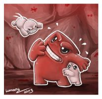 Super Meat Boy Doodle x3 by Lumary92