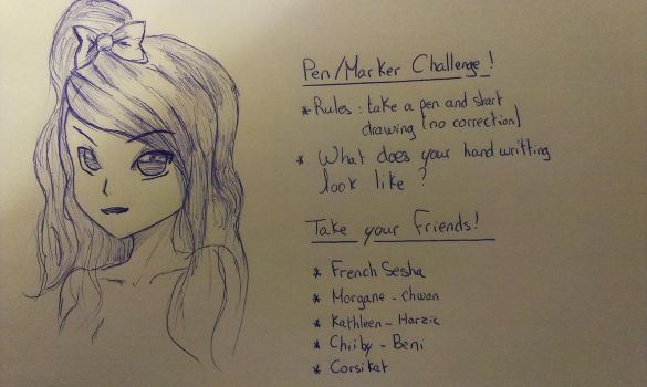 Pen Challenge by Kimkim-A