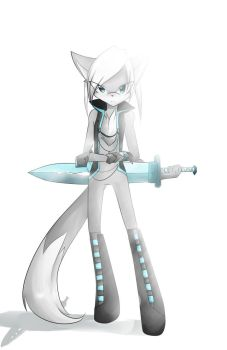 OC: White Ice Mage by Fly-Wolf