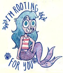 This Mermaid is cheering for you by mabiesison