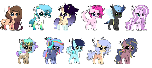 [OPEN] 1-12 Pony Adopts by AppleScribble33