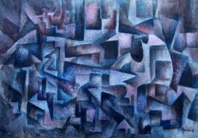 College Day Cubist by Valnor