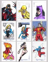 DC Legacy Sketch Cards F by tonyperna