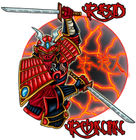 COMMISH: Red Ronin Logo by VAXION