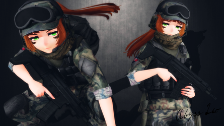 [MMD] Erika ''Jaeger'' Armbruster by AbyssLeo