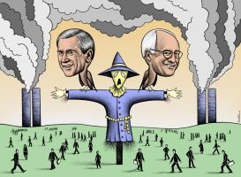 Scarecrow Securing the US by BenHeine