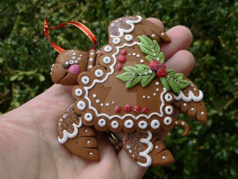 Gingerbread Turtle ornament by MysticReflections