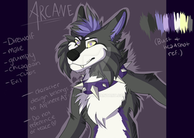 New Arcane redesign  head+bust reference sheet by Alpineee