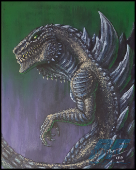 Zilla '98 Painting by AlmightyRayzilla