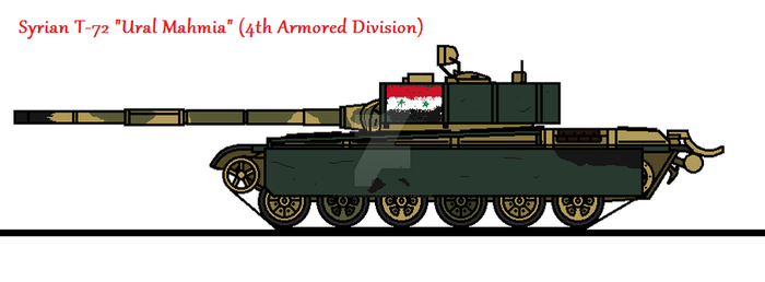 Syrian T-72 Ural Mahmia (4th Armored Division) by thesketchydude13