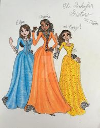 The Schuyler Sisters by MaBelleFleur