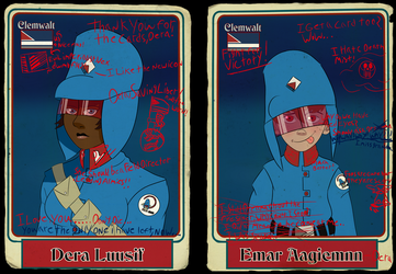 Dera and Emar (Trading Cards) by KingWillhamII