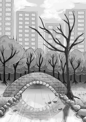 The Bridge by the Tree by YamPuff