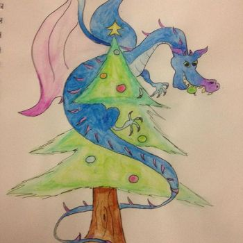 Christmas Dragon by Itchywitchygirl