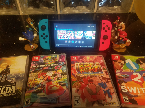 My Nintendo Switch and My Games by ElectricFox37