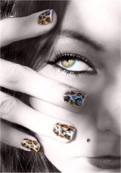 leopard nails by LePr0sY
