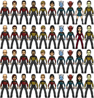 Castaways TNG Crew 2364-2371 by SpiderTrekfan616