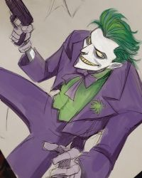 Joker sketch by LucianoVecchio