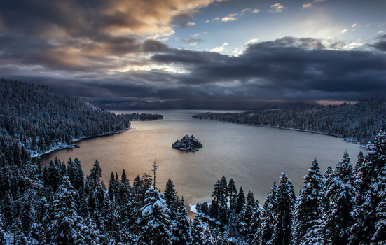 Emerald Bay Sunrise by LILYFlowerr