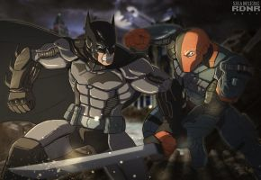 Batman vs Deathstroke 2 (colors by Rodendron) by shamserg