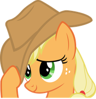 flattered Applejack by BaumkuchenPony