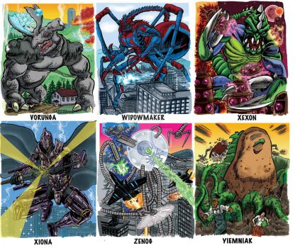 Colossal Kaiju Combat SPN 2 Trading Card Samples 6 by fbwash