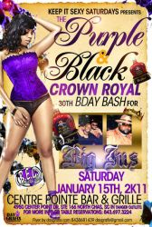 Purple and black party flyer by mochadevil83