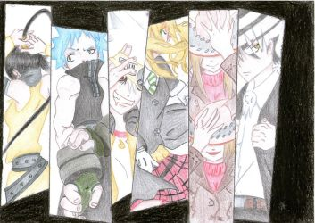 Soul Eater Characters (Colors) by cak04