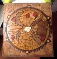Dune Boardgame wooden board by DrMonkeyface