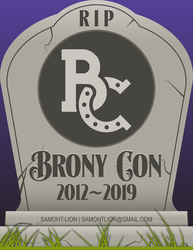 Tombstone Badge Brony Con 2019 by Samoht-Lion