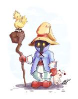 [SKETCH] Vivi - FFIX by Llythium-art