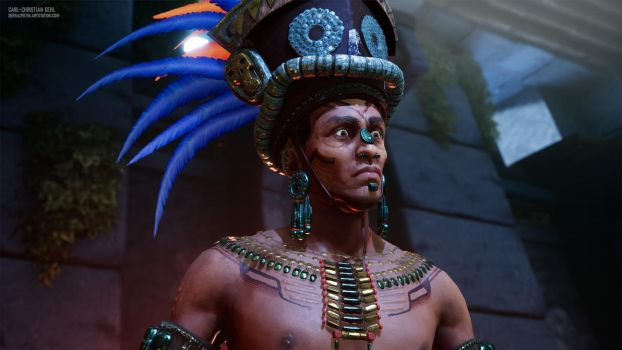 Aztec Priest Closeup by Razputin93