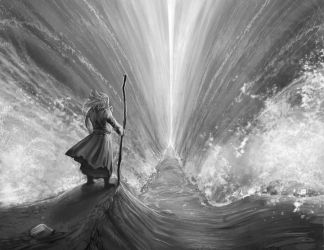 Moses Parting The Red Sea by Josiahj