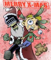 JudgeDeathXmas by FlintLockJaw color by chaz by ChazWest